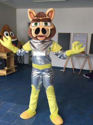 Mascote Porco espacial