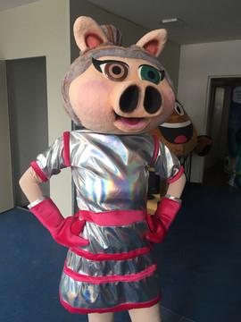 Mascote Porquinha espacial