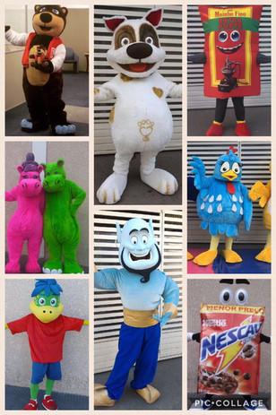 Bonecos e Mascotes