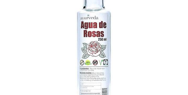 AGUA DE ROSAS ROJAS AYURVEDA 250 ML.