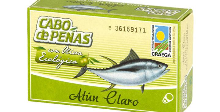 Atún claro en aceite de oliva virgen extra ecológico cabo de peñas 111gr