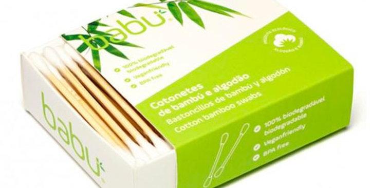 Bastoncillos Biodegradables de Bambú y Algodón ,  Babu 100 Ud.
