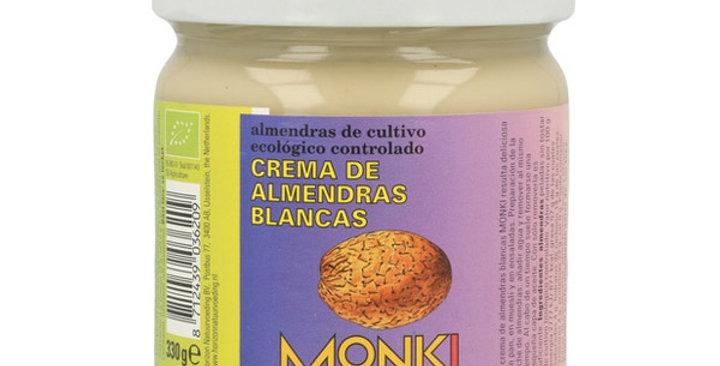CREMA DE ALMENDRAS BLANCAS MONKI 330 GR.