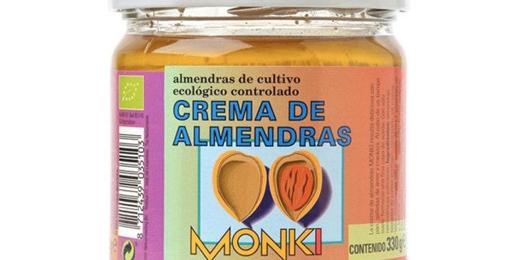 Crema de Almendras Tostadas, Monki 330 gr