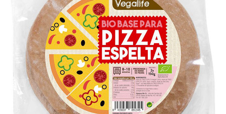 BASE PARA PIZZA DE ESPELTA VEGALIFE 150 GR.