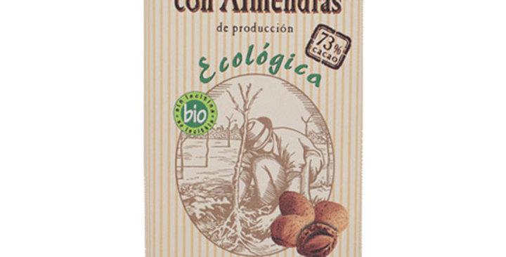 CHOCOLATE NEGRO 73% CON ALMENDRA SOLÉ 150 GR.