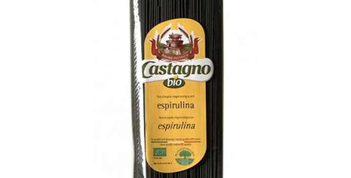 ESPAGUETIS DE ESPELTA ESPIRULINA CASTAGNO 500 GR.