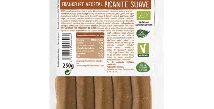 FRANKFURT VEGETAL PICANTE SUAVE NATURSOY 250 GR.