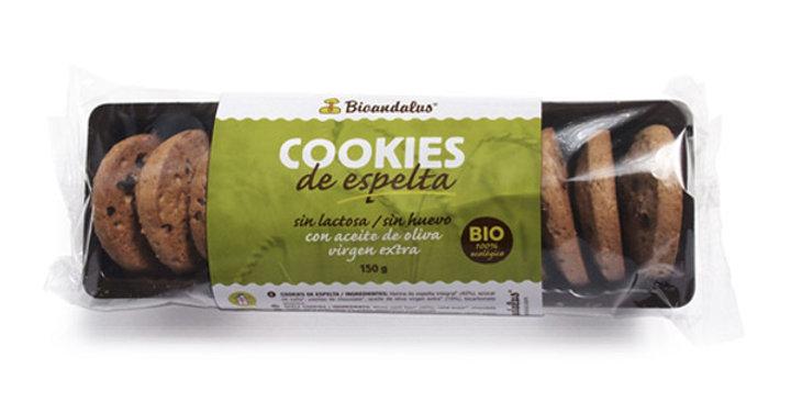 GALLETAS DE ESPELTA Y PEPITAS DE CHOCOLATE BIOANDALUS 150 GR.