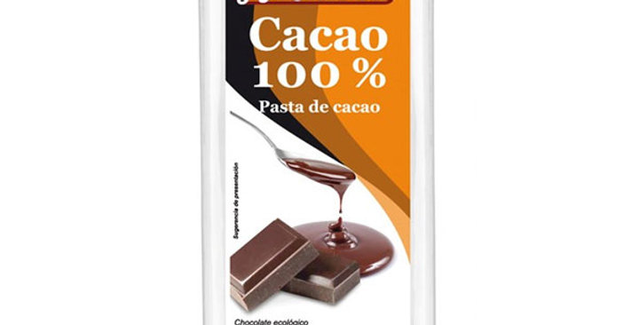 Chocolate Negro 100% Pasta de Cacao en Tableta,  Mandolé