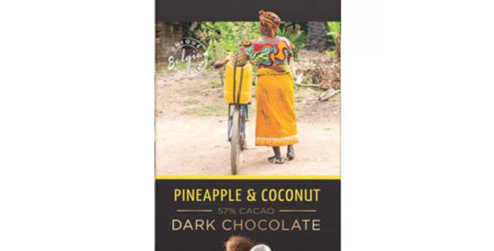 Chocolate Negro con Coco y Piña,  Cachet 100 gr.