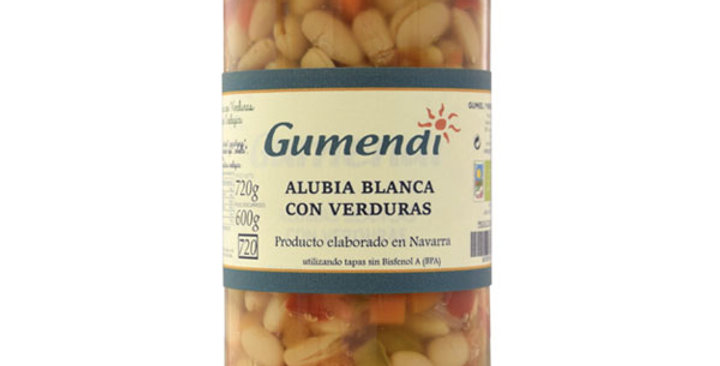 ALUBIA BLANCA CON VERDURAS GUMENDI 720 GR.
