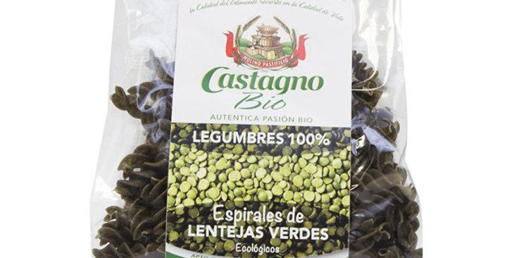 ESPIRALES LENTEJA VERDE CASTAGNO 250 GR.