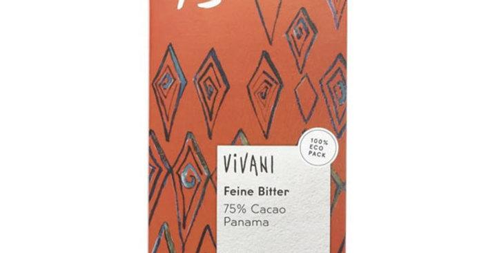 CHOCOLATE NEGRO 75% CON AZÚCAR DE COCO VIVANI 80 GR.
