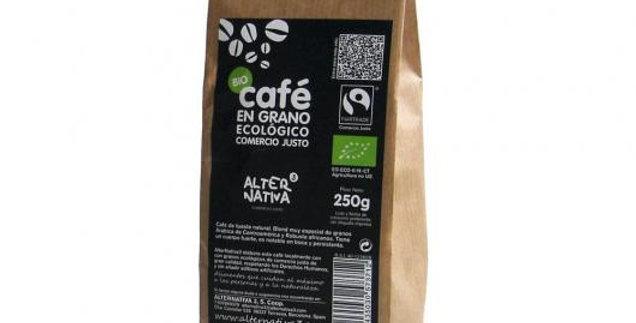 Café Biológico en Grano, ALTERNATIVA 250 gr.