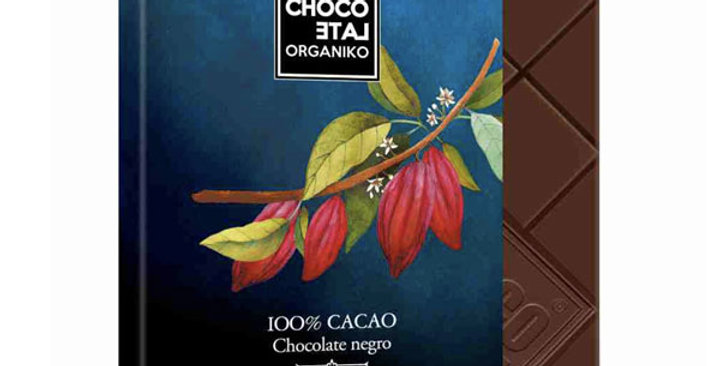 CHOCOLATE NEGRO 100% CHOCOLATE ORGANIKO 20 GR.