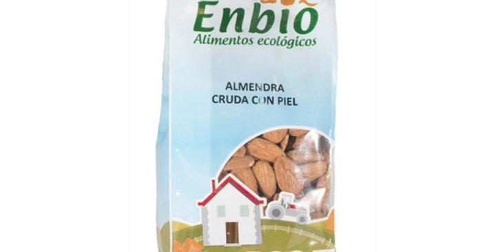 ALMENDRA CRUDA CON  PIEL ENBIO 100 GR.