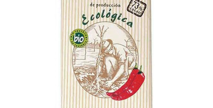 CHOCOLATE 73% CON CHILI SOLE 100 GR.