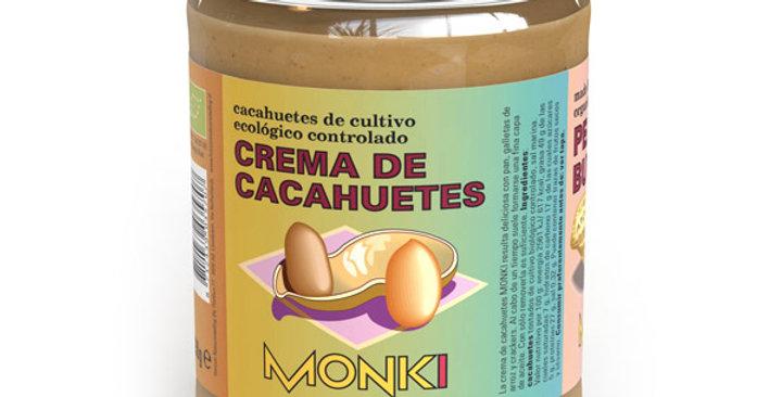 CREMA DE CACAHUETES MONKI 650 GR.