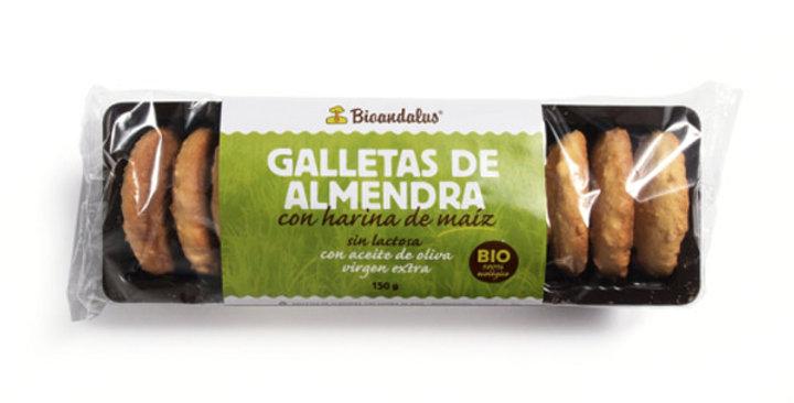 GALLETAS DE ALMENDRA CON HARINA DE MAÍZ BIOANDALUS 150 GR.