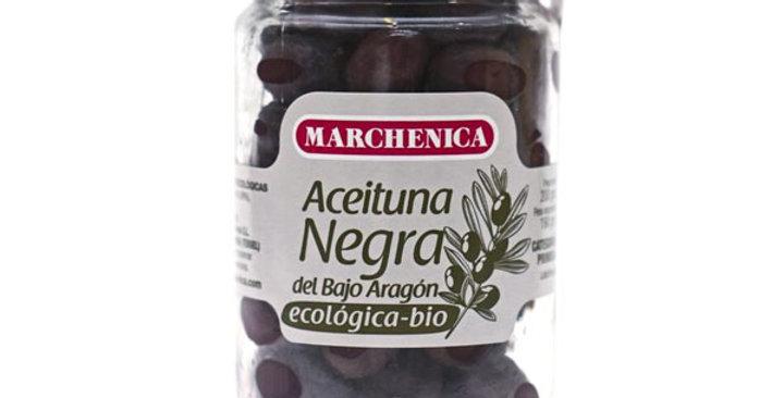 ACEITUNA NEGRA DEL BAJO ARAGON MARCHENICA 200 GR.