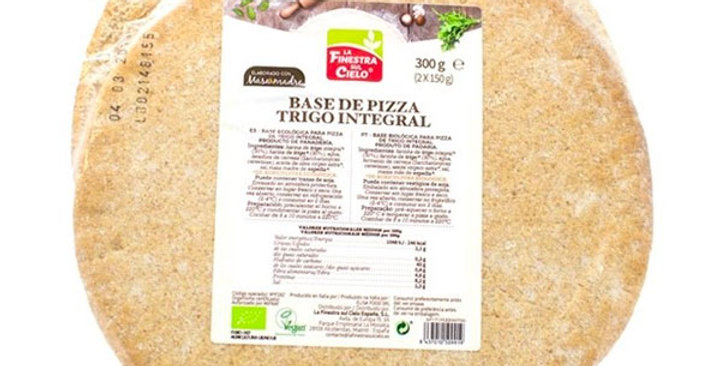 BASE PARA PIZZA DE TRIGO INTEGRAL FINESTRA SUL CIELO 300 GR.