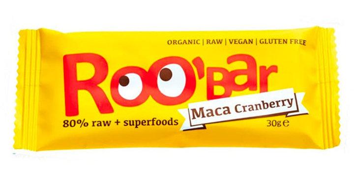 BARRITA RAW DE MACA Y ARANDANO ROOBAR 50 GR.