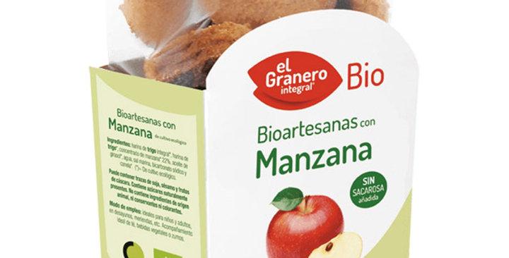 GALLETAS BIOARTESANAS CON MANZANA EL GRANERO INTEGRAL 250 GR.