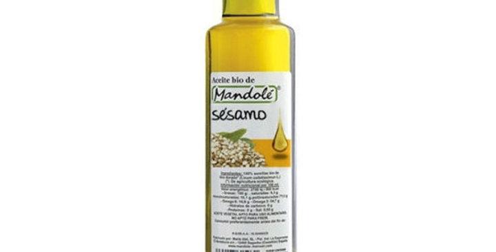 ACEITE DE SESAMO CRUDO MANDOLE 250 ML.