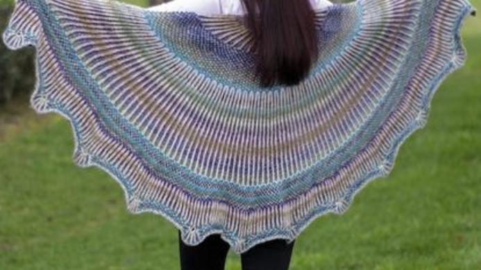 Truly textural shawl kit