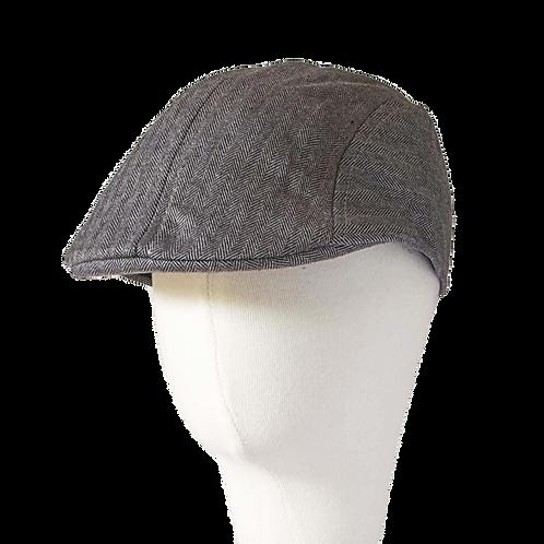 MID GREY NEWSBOY HAT