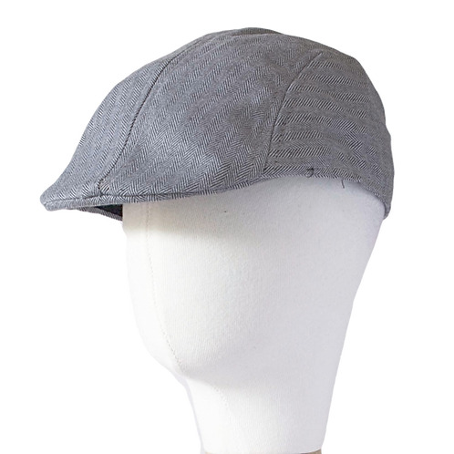 LIGHT GREY NEWSBOY HAT