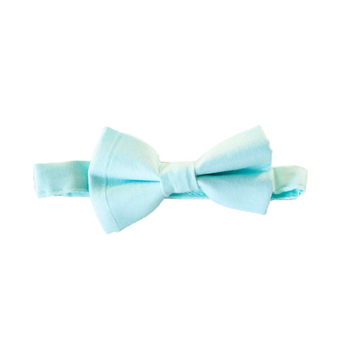 NEON LIGHT BLUE BOW TIE