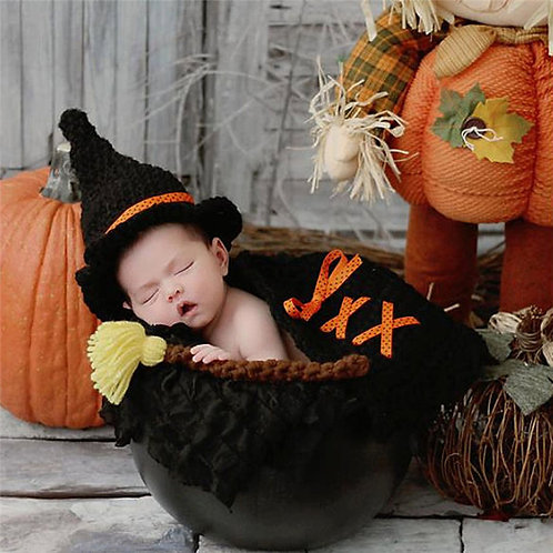 BABY WITCH CROCHET COSTUME