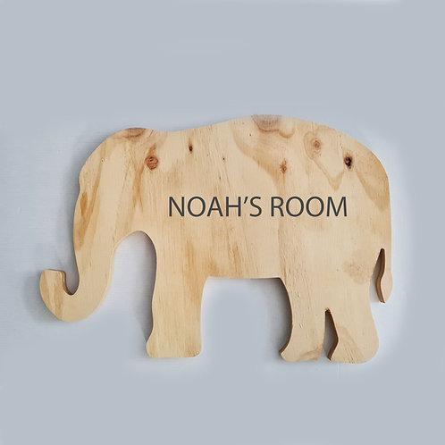 ELEPHANT DOOR SIGN
