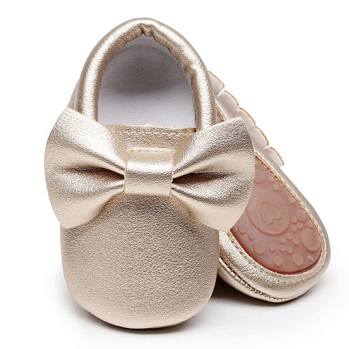 Gold Bow Shoes