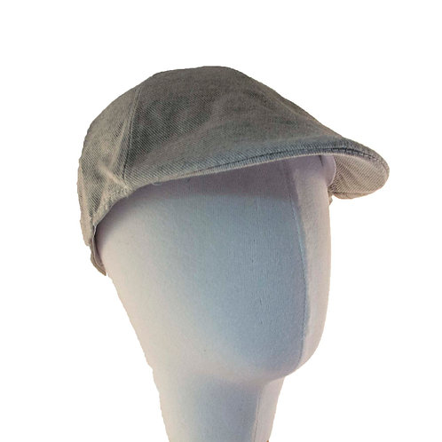 CREAM GREY NEWSBOY HAT