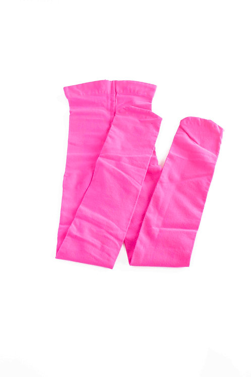 HOT PINK FOOTED KIDS TIGHTS
