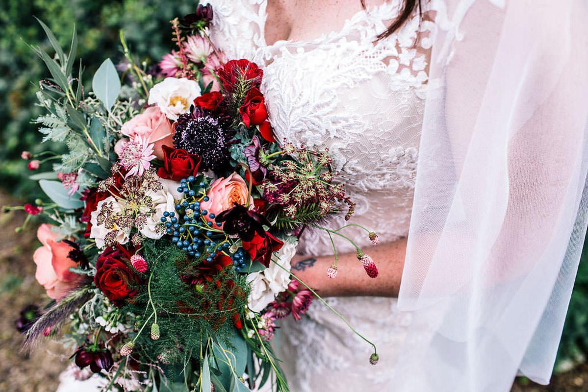 Bridal bouquet - Owlpen Manor