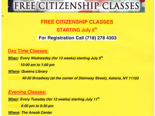 Citizenship Classes Have Started!