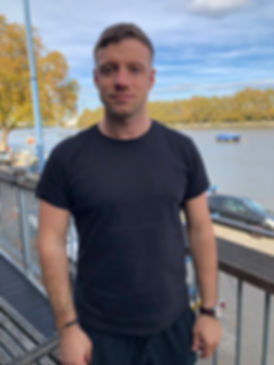 Keogh Reid Massag Therapist wearing a black t shirt