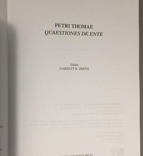 Book: Petrus Thomae - De Ente