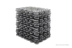 Bucket of dental aligners 3D printed