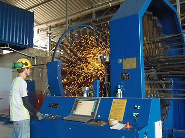 Máquina soldadora MBK en Fábrica d Tubos Campeón