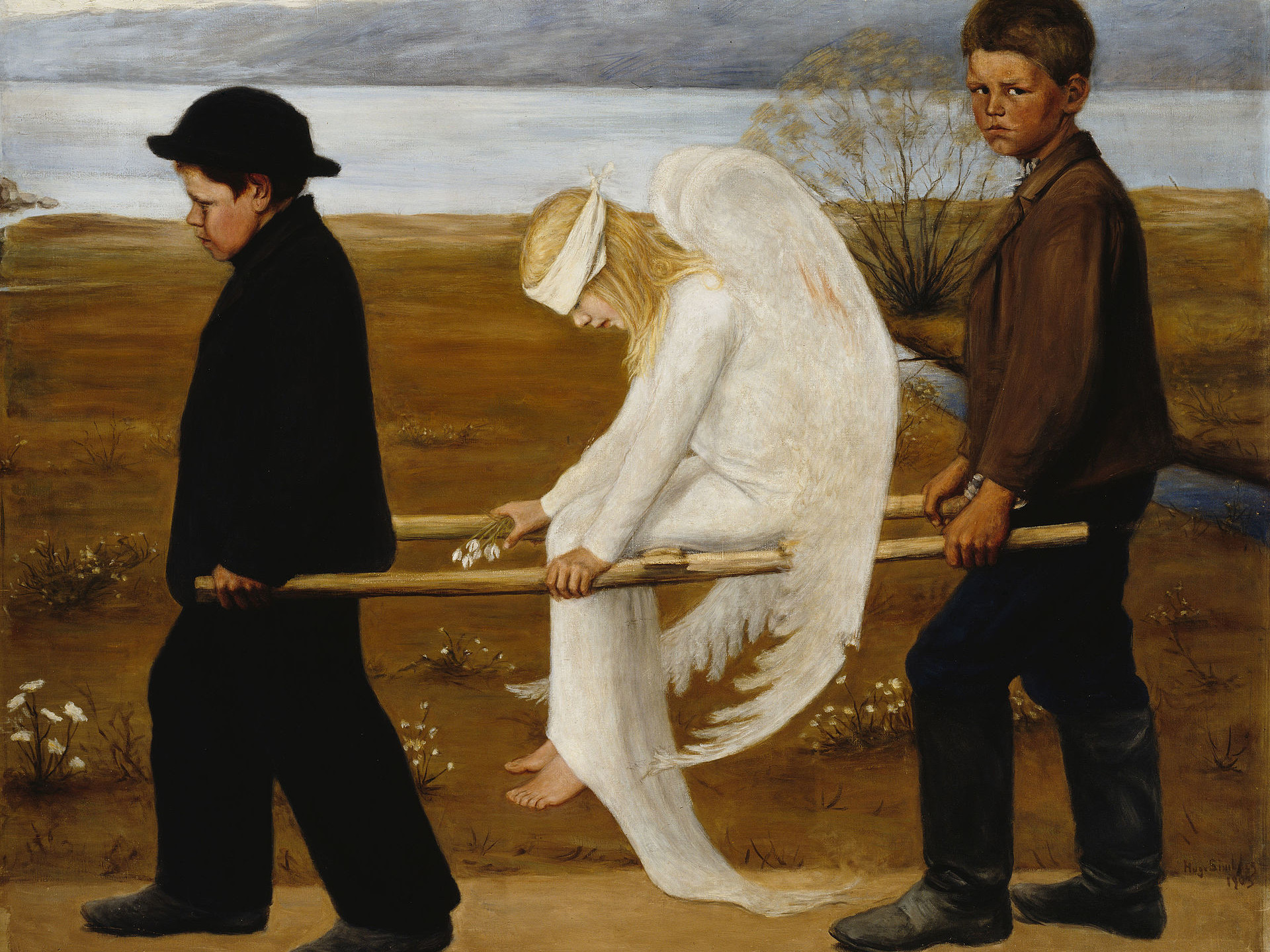 The Wounded Angel by Hugo Simberg (1930)