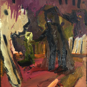 At The Bottom Of Nicolai's Garden. (2019, oil on panel.)