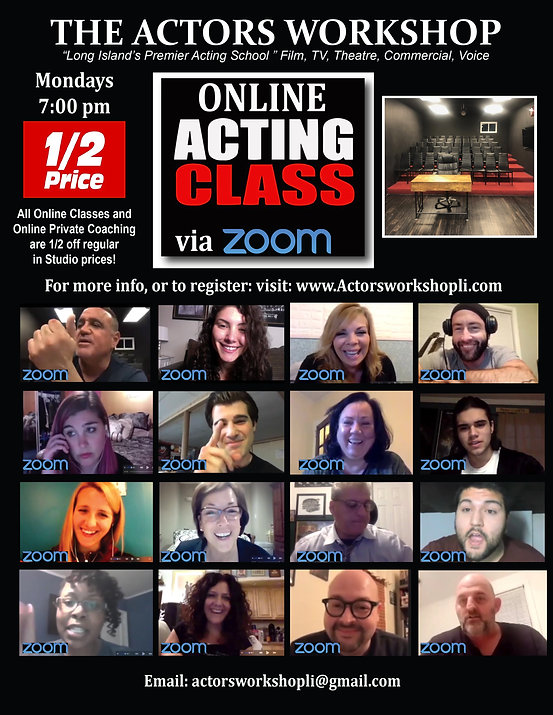 Virtual Acting half off MONDAY Classes Z