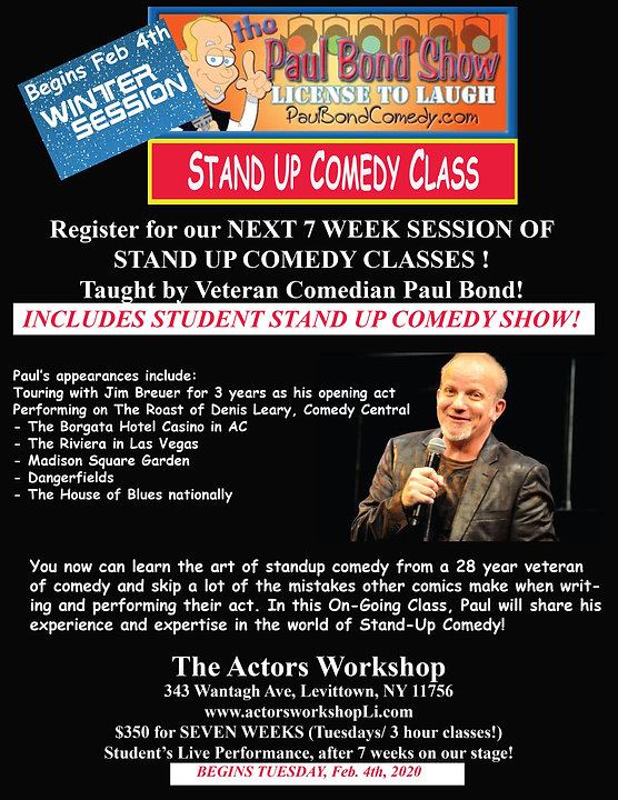Paul Bond WINTER Stand Up Comedy Flier.j