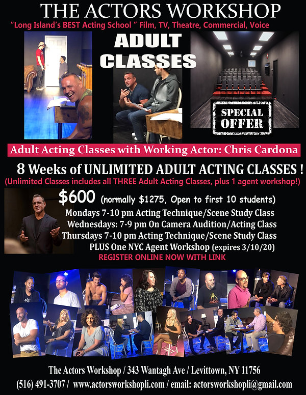 Adult acting classes Special 8 week offe