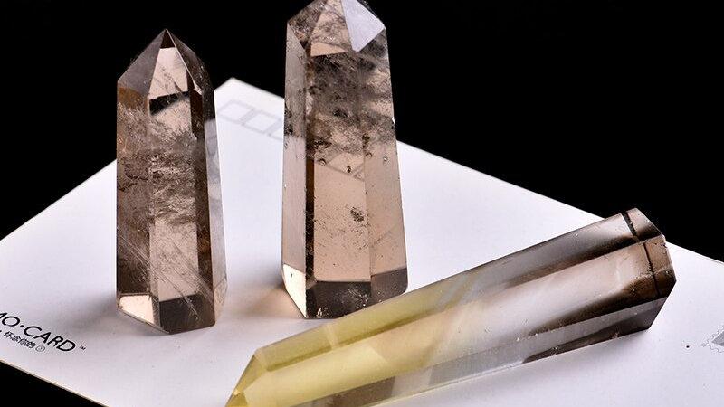 1PC Natural Crystal Tea Crystal Crystal Point Hexagonal Column Mineral Ornament